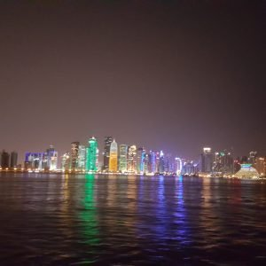 Doha panoramic View from Dhow cruise 1