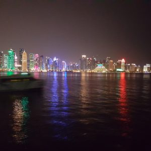 Doha panoramic View from Dhow cruise