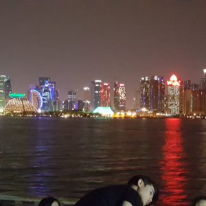 Doha panoramic View from Dhow cruise 8