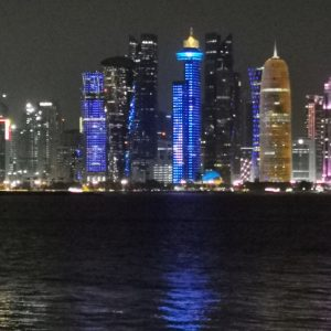 Doha corniche at night